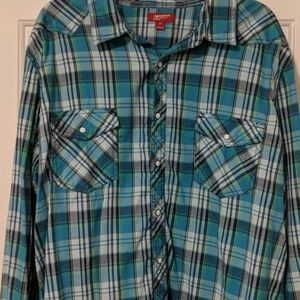 Plaid Snap Shirt